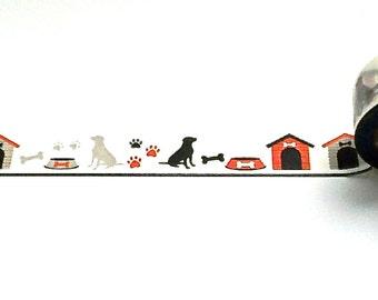 Dog Washi Tape, Washi Tape, Planner Tape, Planner Washi, Dog Washi, Scrapbook Supplies