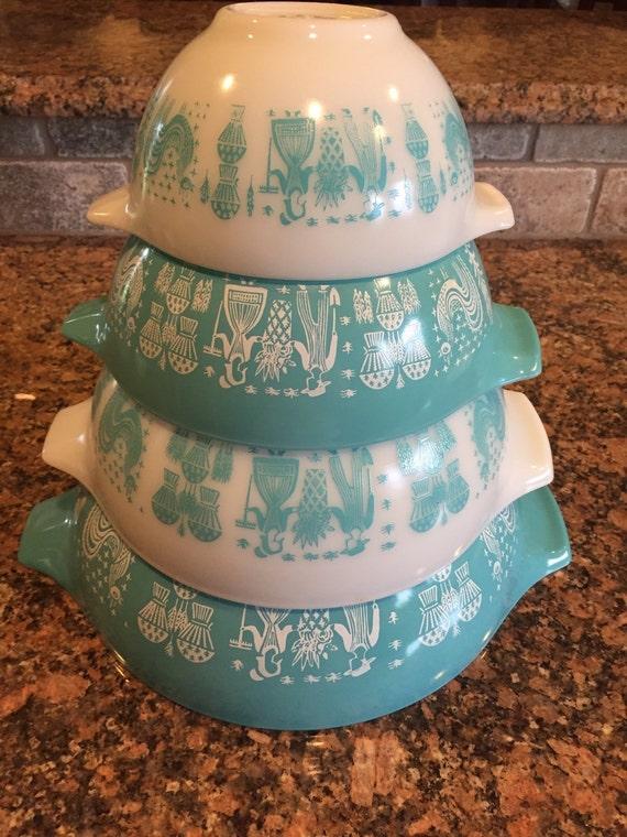 Pyrex Butterprint Cinderella Bowl Set