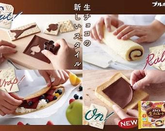 Japanese Chocolate Slices Raw Chocolate Nama Bourbon