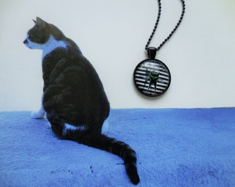 Black Shadow Cat necklace