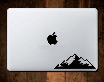 Rugged Mountain Decal, Yeti Decal, Macbook Decal, Laptop Decal, Laptop Stickers