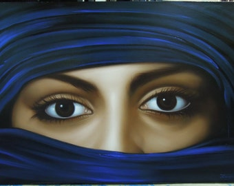 "lady eye painting oil painting on canvas 28""X40"""