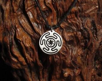 Hecate's Wheel pendant