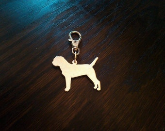 Border Terrier Sterling SIlver Keyring or Pendant