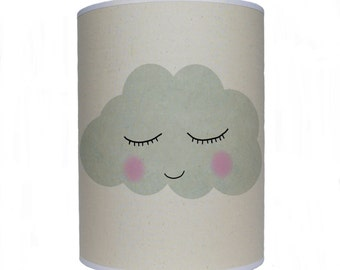 Sleepy face cloud/ lamp shade/ ceiling shade/ drum lampshade/ lighting