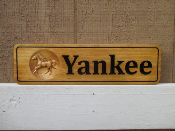 Horse Stall Sign Horse Name Plates Personalized Horse Tack