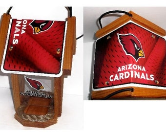 Arizona Cardinals Two-Sided Cedar Bird Feeder