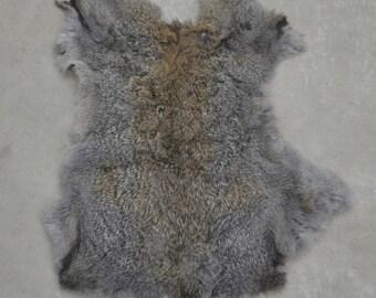 Rabbit Fur Pelt Dark Tri Color Genuine Leather Large TA-31642 (Sec. 1,Shelf 4,C)