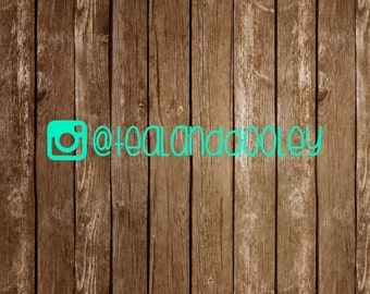 Instagram Handle Vinyl Decal Store Decal Sticker