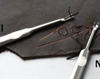 Skiving | Groover |U and V Leather Tool Kit | Edge Beveler | Leathercraft | Leather Carving Tools