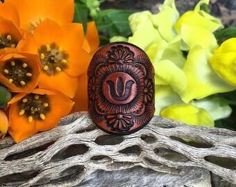 The Botanic Leather Ring