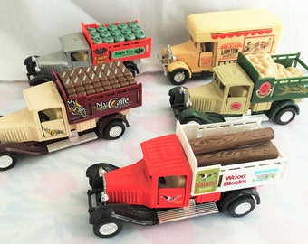 O001  Die cast delivery trucks