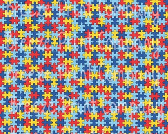 Puzzle pattern craft  vinyl htv sheet - HTV or Adhesive Vinyl -  Autism pattern HTV2150