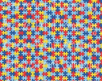 Puzzle pattern craft  vinyl htv sheet - HTV or Adhesive Vinyl -  Autism pattern HTV2150