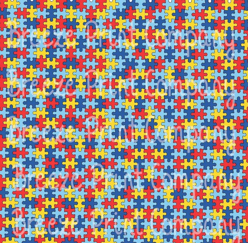 Puzzle Pattern Heat Transfer Or Adhesive Vinyl Htv Sheet