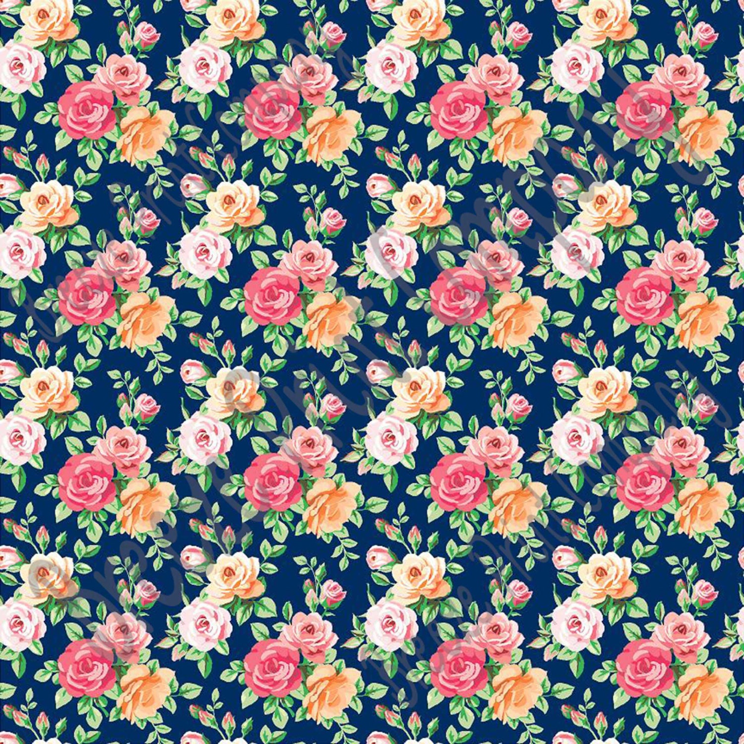 Rose Floral Heat Transfer Or Adhesive Vinyl Sheet With