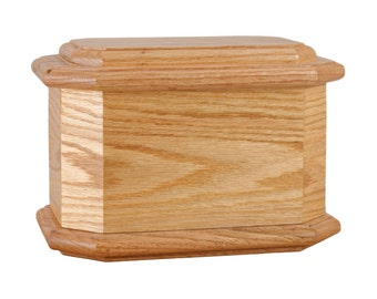 Oak Diplomat Wood Cremation Urn