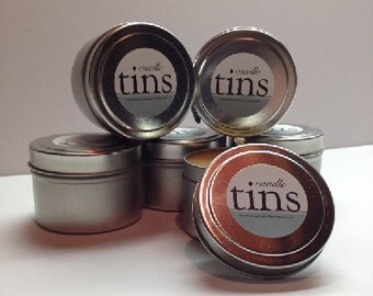 3 oz. Scented Candle Tins Soy Candles Hand Poured 100% Cotton Wicks Jasmine Gardenia Floral Gifts Mother's Day Home Decor