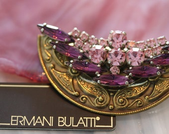Exquisite Ermani Bulatti Vintage Amethyst Brooch