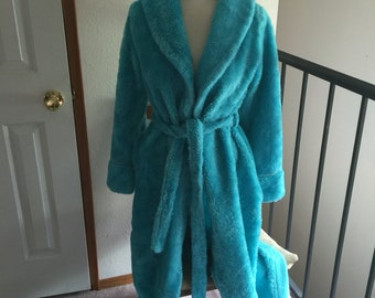 Art Rich Robe Long Plush Soft Blue Small