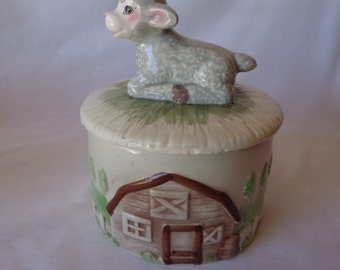 BUTTER CHEESE Dish,  Vintage,  Lamb