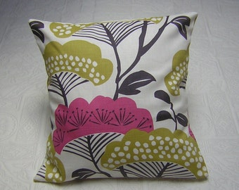 Cushion Cover - Sanderson Treetops Fabric - Magenta and Gold