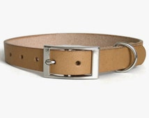 Natural Leather Dog Collar for Small, Medium & Large Dogs Handmade