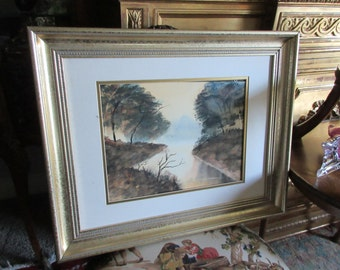ORIGINAL WATERCOLOR PAINTING Signed B. Grout