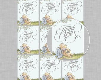 Winnie The Pooh Thank You Tags/Favors/Stickers/Labels