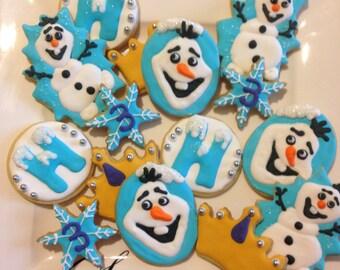 20 Iced Frozen cookies.