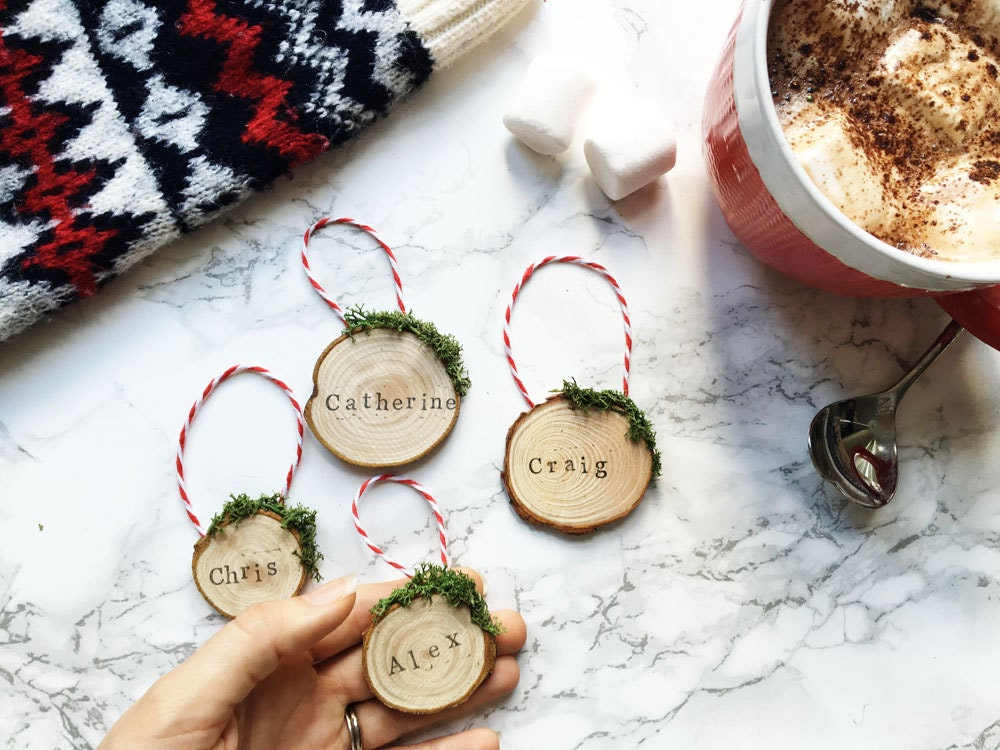 Personalised Christmas Tree Ornaments / Personalized Holiday