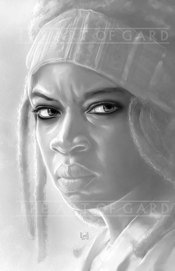 Michonne Portrait (11X17 Art Print)