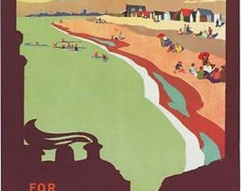 Vintage Southern Railway Hayling Island Poster A3 / A2 Print