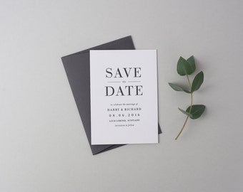 Letterpress Save the Date Invites (50 Pieces) - Richard Design