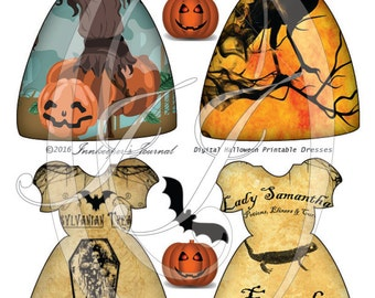 Vintage Halloween Dress Tags