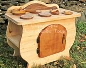 Wooden Kitchen Toy Kitchen Wood Stove Kitchen Waldorf-Inspired Kitchen