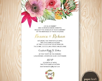 Native Blooms - Wedding Invite