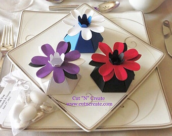 Flower Favor Box Flower Favor Flower Wedding Favors Flower Bridal Shower Favor Flower Favors