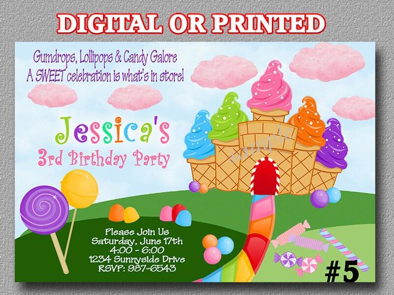 Candyland Birthday Invitations wblqualcom