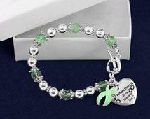 Light Green Where There is Love Ribbon Bracelet (RETAIL) (RE-B-01-34)