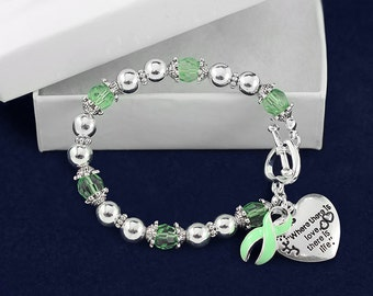 Light Green Where There is Love Ribbon Bracelet (RETAIL) (RE-B-01-34)