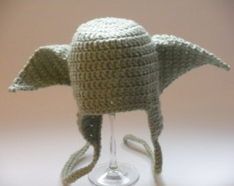 Star Wars Yoda Hat, Newborn Yoda Hat, Baby Yoda Hat, Toddler Yoda Hat, Child Yoda Hat, Adult Yoda Hat, Star Wars Hat, Baby Shower Gift
