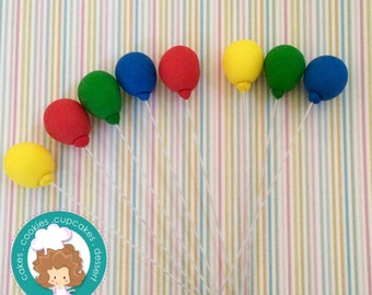 Balloons fondant toppers