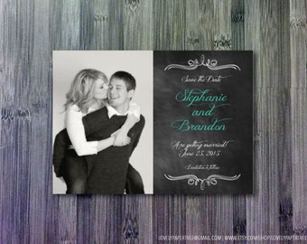 Chalkboard Inspired Save the Date (SD14)
