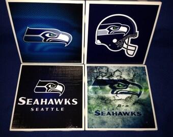 Seattle Seahawks Coasters (set of 4)