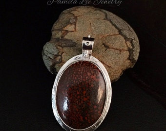 Fossilized Dinosaur Bone Pendant in Sterling Silver