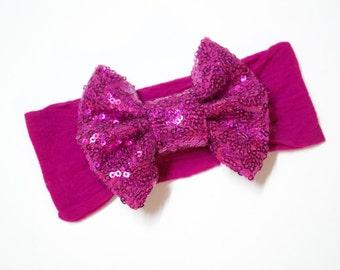 Fushcia Sparkle & Grow Sparkle Bow