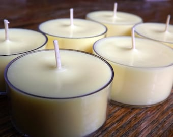 12 Nag Champa Scented Soy Tea Light Candles - Nag Champa Candles - Yoga Candle - Boho Candles - Soy Tealights - Earthy Candles