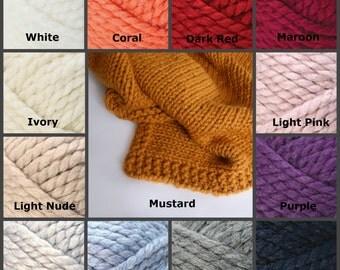 Baby blanket knit, Mustard baby blanket, hand knit blanket, chunky baby blanket