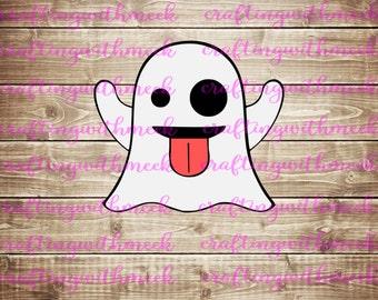 Ghost Emoji SVG - Cricut Explore - Design Space
